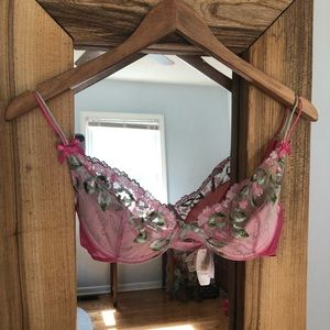 Victoria's Secret Lace Sheer Balconette Bra 34C
